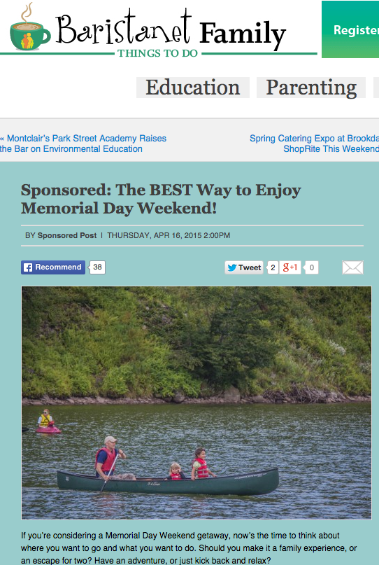 Baristanet – The Best Way to Enjoy Memorial Day Weekend – April 2015