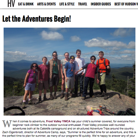 Hudson Valley Magazine — Let the Adventures Begin
