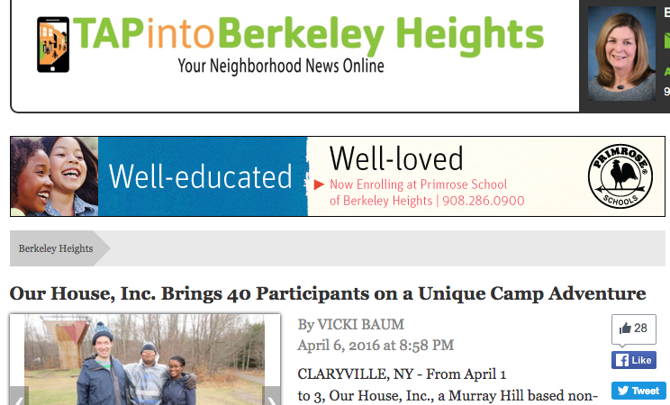 Tap Into Berkeley Heights — A Unique Camp Adventure