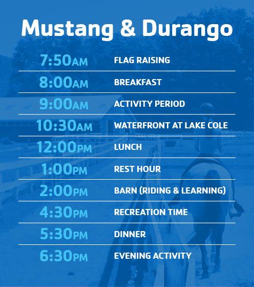 Mustang & Durango Village Schedule