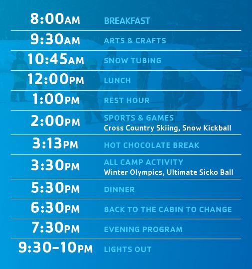 Schedule Frost Valley Ymca