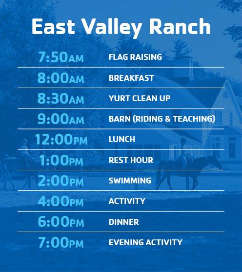 EVR Horse Camp Schedule