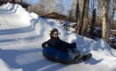Even big kids enjoy going down the tube run at Frost Valley.