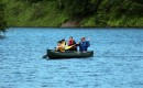 We have canoes and rowboats in the spring and fall for our guests to take out on Lake Cole.