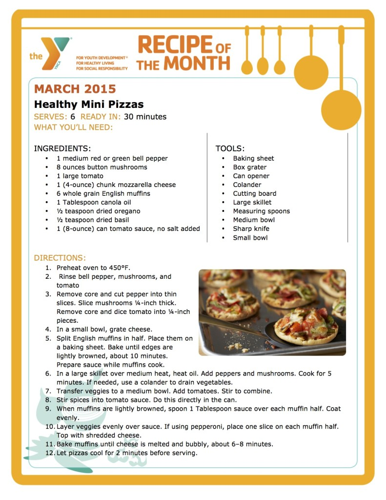 Recipe of the Month - HEALTHY MINI PIZZAS